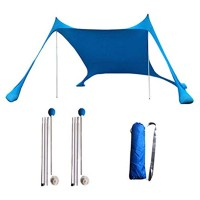 Ravcerol Pop Up Family Beach Tent Lightweight Beach Tent Sun Shelter UPF50+ UV Proof Lightweight Sun Shade Tent with 4 Free Pegs for Family Camping Trips Fishing Picnics